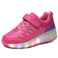 iBaste Schuhe mit Rollen LED Leuchtend Bunte Lichtfarbe Ohne USB AufladenSkateboard Kinder Mädchen Jungen Sneaker Turnschuhe Sportschuhe - http://on-line-kaufen.de/ibaste-9/36-eu-ibaste-schuhe-mit-rollen-led-leuchtend-bunte-4