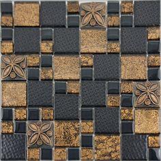 porcelain tile square mosaic design - Schwarzweimosaikfliese Backsplash