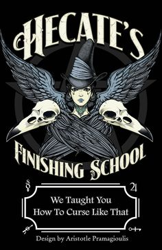 """egregoredesign: """" Hecate's Finishing School Prints and Shirts Design and concept by egregoredesign Available here:. Creepy, Under Your Spell, Wicca Witchcraft, Magick Spells, Wiccan Witch, Finishing School, Rabe, Witch Art, Halloween Art"""
