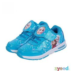 Princess Girls Shoes For Kids 2016 New Children Shoes Ice Snow Queen  Fashion Elsa Anna Casual boot Single leather Child Sneakers 0ef26b9a941