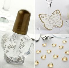 Shimmer Bubbles Pack - £6.94 http://www.confetti.co.uk/shop/product/shimmer-bubbles-pack Butterfly Scratchcard Wedding Trivia - £3.98 http://www.confetti.co.uk/shop/product/butterfly-scratchcard-wedding-trivia Heart Diamante Table Gems Pack - £2.29 http://www.confetti.co.uk/shop/product/heart-diamante-table-gems-pack