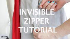 Invisible zipper tutorial.