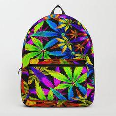 Stoners' Mandala Cannabis Leaves Backpack by theweedartlady Stoner Art, Stoner Room, Stoner Style, Stoner Gifts, Weed Art, D Craft, Smoking Weed, Womens Fashion, Accessories