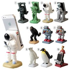 Astronaut Spaceman Animal Porter Cute Funny Mobile Phone Stand Holder Mount - Iphone Holder - Ideas of Iphone Holder - Astronaut Spaceman Animal Porter Cute Funny Mobile Phone Stand Holder Mount