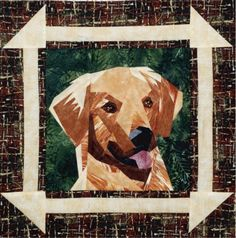 silver linings canine corner golden retriever - great pattern site!
