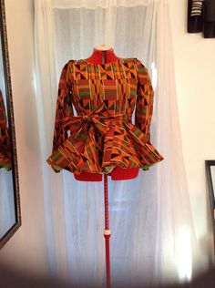 Ankara Peplum Top by BchrisBoutique on Etsy