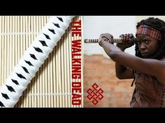 How to Make a Katana Wrap Paracord Bracelet Tutorial (Michonne from the Walking Dead) - YouTube