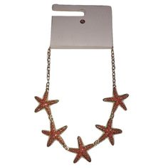 DB Jewerly Coral & Gold Color Starfish Necklace DB Jewerly Coral & Gold Color Starfish Necklace. Brand new never worn. Very pretty necklace, nice qualify...perfect for summer! Jewelry Necklaces