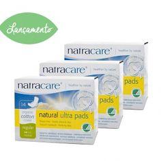 Absorvente orgânico Natracare regular com abas Ultra Pads Pacote Jumbo com 42 absorventes- Lohas Store