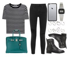 """""""Sin título #13400"""" by vany-alvarado ❤ liked on Polyvore featuring T By Alexander Wang, Madewell, Hermès, Gianvito Rossi, OtterBox, Casio and ASOS"""