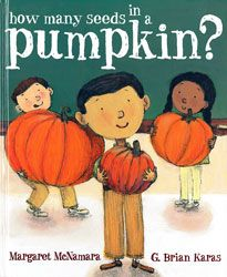 How Many Seeds in a Pumpkin? book info & activities at: Full STEAM Ahead: Integrating STEM and Art