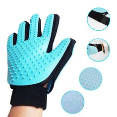 Glove Combing For Dogs Cleaning Pet Hair Brush For Dog and Cat Grooming Bath Finger Glove for remove hair from domestic 40