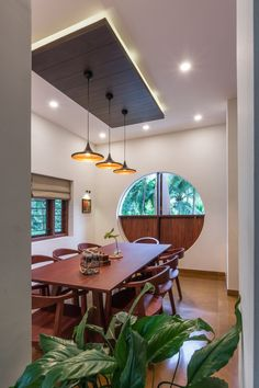 Wood, greenery, plenty of artworks and antique furniture pieces give this Kondotty, Kerala home a unique, charming appeal Ceiling Design Living Room, False Ceiling Design, House Ceiling, Vernacular Architecture, Architecture Design, Home Design Images, European Style Homes, Indian Home Interior, Kerala House Design