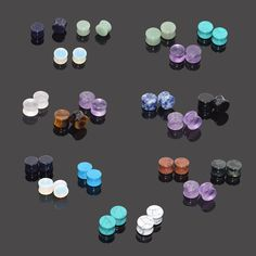 "Quantity: You Will Receive 3 Pair Stone Ear Plugs(same size, different color). Material: Organic Stone. Feature:Gauge: 2g(6mm),0g(8mm),00g(10mm),1/2""(12mm),9/16""(14mm),5/8""(16mm)"