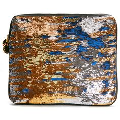 Deux Lux Laptop Case in Cosmic Blue/Gold found on Polyvore