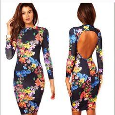REESTOCK flower bodycom dress Bodycondress Oasap Dresses Backless