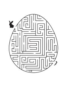 Print Easter Egg Maze coloring page & book. Your own Easter Egg Maze printable coloring page. With over 4000 coloring pages including Easter Egg Maze . Easter Coloring Sheets, Easter Colouring, Colouring Pages, Printable Coloring Pages, Coloring Pages For Kids, Mandala Coloring, Free Coloring, Adult Coloring, Coloring Books