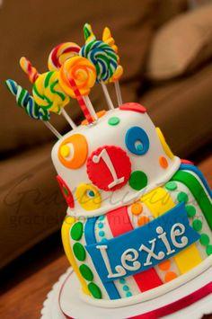 gracielicious cake-carnival themed birthday cake