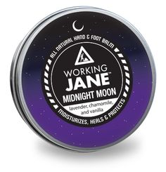 Working Jane Midnight Moon - all natural hand & foot balm. Lavender, chamomile, and vanilla. Animals For Kids, The Balm, Moisturizer, Lavender, Healing, Moon, Skin Care, Cyprus, Natural