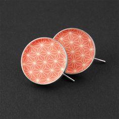 Ohrringe Ohrhänger Silber von Ana Karijoka auf DaWanda.com #Silberschmuck #Schmuck #Ohrhänger #Retro #Muster #Geschenk #Ohrringe #