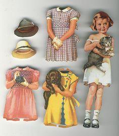 Vintage paper dolls by Frances Tipton Hunter by takeabreak Paper Doll Craft, Doll Crafts, Paper Toys, Paper Crafts, Paper People, Paper Dolls Printable, Vintage Paper Dolls, Old Dolls, Baby Dolls