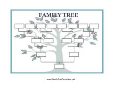 Blank Family Tree Charts - Group all your extended family ...