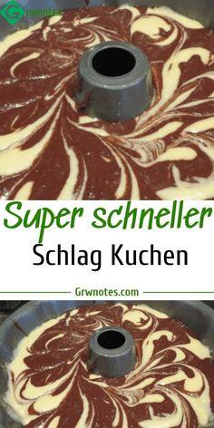 Super schneller Schlag Kuchen Super fast blow cake 😍 – quickly Easy Vanilla Cake Recipe, Easy Cake Recipes, Cookie Recipes, Dessert Recipes, Desserts, Torte Recipe, Cake & Co, Food Cakes, Biscuits