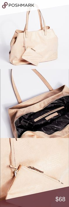 """Free People Triple Pocket Slouchy Tote Tan NWT Free People """"Triple Pocket"""" Slouchy Tote  ... these are the softest Vegan purse ever!    Holds everything color : Tan   (blush)  I took more pics goes with everything the perfect everyday bag  / travel Tote  NWT kept in dust bag Free People Bags Totes"""