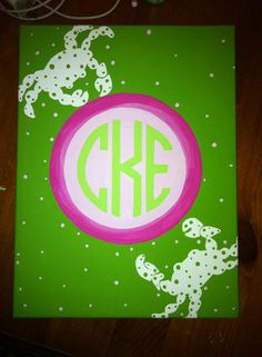 Lilly and Monogram Canvas