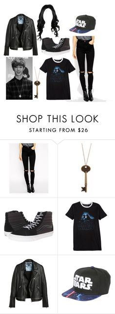"""""""Much needed talk"""" by deaththeghoul ❤ liked on Polyvore featuring ASOS, Vans, Hybrid and Starter"""