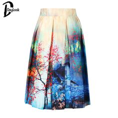 DayLook Charm Lady Casual Multi Scene Print High Waist Pleated Skater Midi Skirt High Waist  Painting Skater Skirt free shipping Nail That Deal http://nailthatdeal.com/products/daylook-charm-lady-casual-multi-scene-print-high-waist-pleated-skater-midi-skirt-high-waist-painting-skater-skirt-free-shipping/ #shopping #nailthatdeal