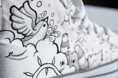 Converse Shoes really cool idea to get white converse and put something like this on them