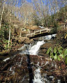 Juney Wank Falls in Bryson City, NC.