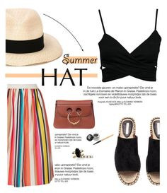 """Summer Hats"" by sofiasolfieri ❤ liked on Polyvore featuring Alice + Olivia, J.W. Anderson, Eugenia Kim, Chloe + Isabel, summerstyle and summerhat"
