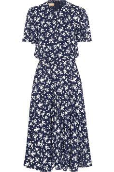 Michael Kors|Floral-print crepe dress|NET-A-PORTER.COM