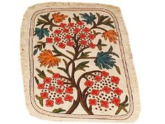 Numdah Felt embroidery rug. India.