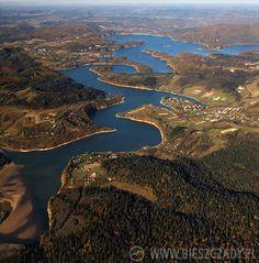 Solina Lake among Bieszczady Mountains