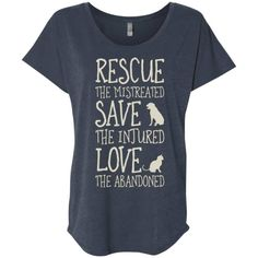 Rescue Them Slouchy Tee Cool Tees, Cute Shirts, Dog Friendly Hotels, Rescue Dogs, Animal Rescue, Animal Shelter, Slouchy Tee, Dog Shirt, Dog Grooming
