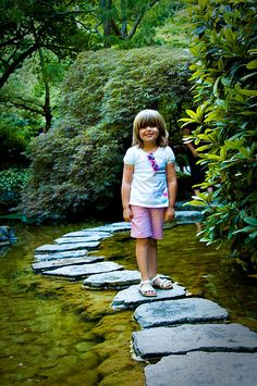 stepping stones... surrounded by moss <3