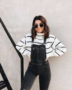 How to wear a jumpsuit: 30 outfit ideas for every occasion .- So tragen Sie einen Overall: 30 Outfit-Ideen für jeden Anlass How to wear a jumpsuit: 30 outfit ideas for every occasion - 30 Outfits, Mode Outfits, Cute Casual Outfits, Summer Outfits, Fashion Outfits, Womens Fashion, Fall Outfits For Teen Girls, Fashion Ideas, Fashion Trends