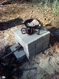Rocket Stove Breakfast