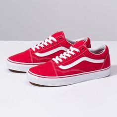 Find red shoes at Vans. Shop for red shoes, popular shoe styles, clothing, accessories, and much more! Cute Shoes, Women's Shoes, Wedge Shoes, Me Too Shoes, Shoes Sneakers, Red Vans Shoes, Shoes Style, Flat Shoes, Yellow Shoes