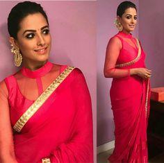 Pink satin crepe saree custom made designer see through blouse for womens wedding party wear sari sarees fabric Shagun Blouse Designs, Saree Blouse Neck Designs, Rosa Satin, Pink Satin, Crepe Saree, Stylish Blouse Design, Saree Dress, Beautiful Blouses, Indian Designer Wear
