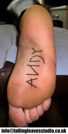 Toy Story tattoo, no podría aguantarme las cosquillas
