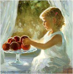 Vladimir Volegov 152. Girl Peaches, Portrait Beatrice (2013) *SOLD* http://www.volegov.com/girl-peaches-portrait-beatrice/