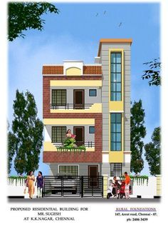 Best Indian Staircase Tower Designs Elevation In 2019 400 x 300