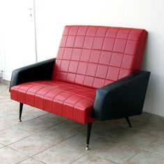 canap ska 2 fauteuils ann e 60 caramel 1 50. Black Bedroom Furniture Sets. Home Design Ideas