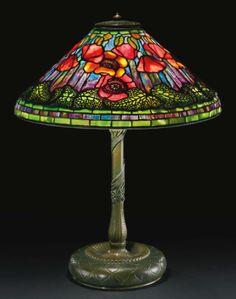 tiffany studios poppy table l ||| lighting ||| sotheby's n08999lot6ymyqen