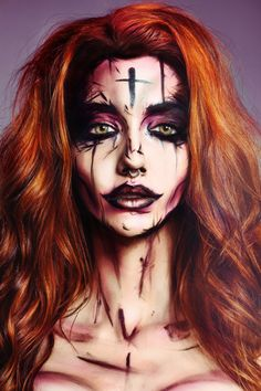Pop art make up face paint - Ay Carter Inspiration