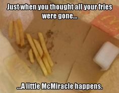 Love a little McMiracle!